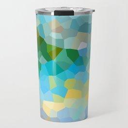 Sea coast - Abstract geometric background Travel Mug