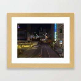 Empty Night Streets of Tokyo Framed Art Print