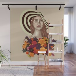 A flower between flowers // Del Rey with a bouquet Wall Mural