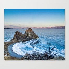 Shaman Rock on Olkhon Island, Baikal Canvas Print
