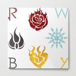 RWBY Emblems - Team RWBY Metal Print