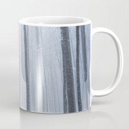 Foggy frozen winter forest Coffee Mug