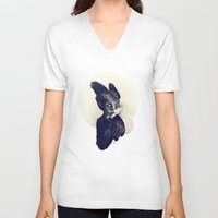 aurora V-neck T-shirts featuring  ♦  AURORA  ♦  by taciturn ♦ saturn
