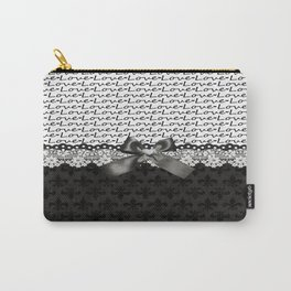 Elegant Black Love Carry-All Pouch