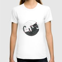 philosophy T-shirts featuring Cat Philosophy by Emily Andrus Lopuch