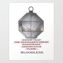 Bloodless Names Art Print