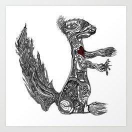 Squirrel by Greg Phillips Art Print