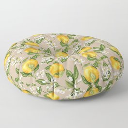 Patel background with orange fruits pattern Floor Pillow