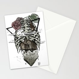 Esqueleton Illustration by Javi Codina Stationery Cards