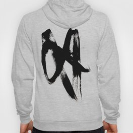 Brushstroke 2 - simple black and white Hoody