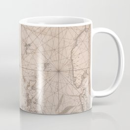 Portolan map of the North Sea, the Norwegian Sea with adjacent coast and countries 1768 Coffee Mug