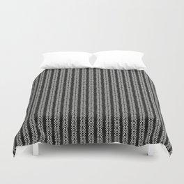 Mud cloth - Black and White Arrowheads Duvet Cover