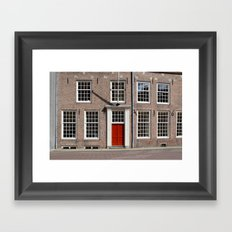 Red door Framed Art Print
