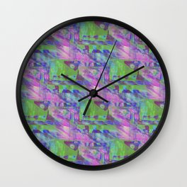 Computer Glitch Wall Clock