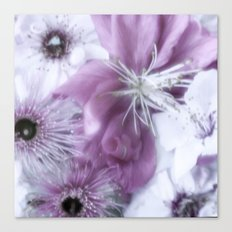 Flowers Purple Canvas Print