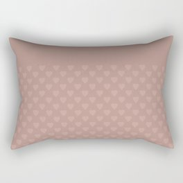 The color of cocoa . Monochrome pattern of hearts . Rectangular Pillow