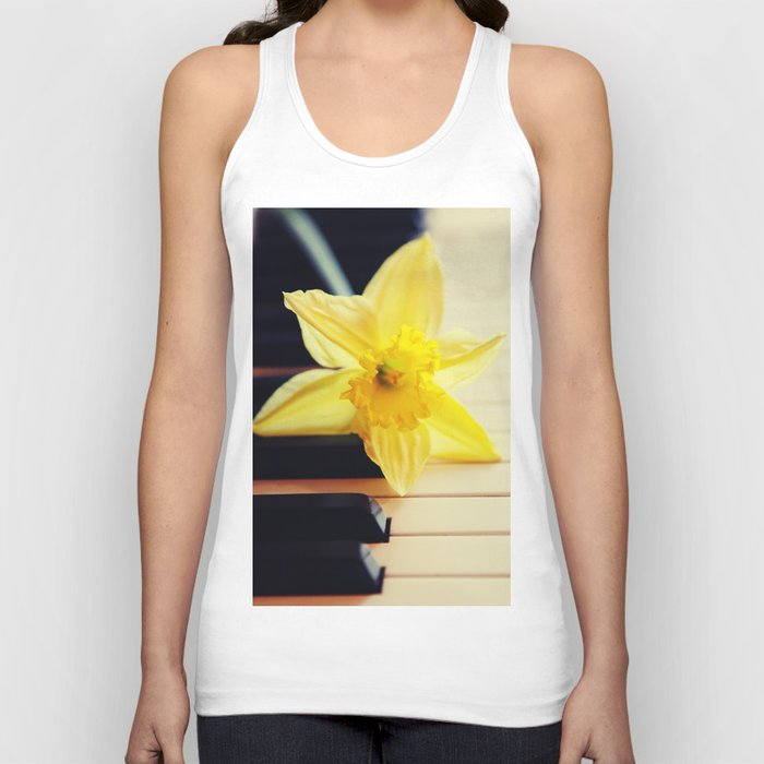 piano flower Unisex Tank Top