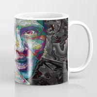 christopher walken Mugs featuring christopher walken portrait  by Godhead