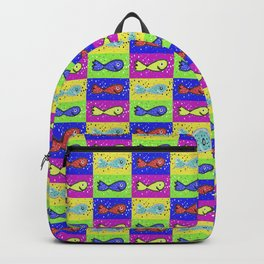 Cartoon Style Marine Life Motif Pattern Backpack