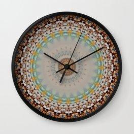 New Color Pyramidal Mandala 55 Wall Clock