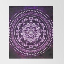 Purple Glowing Soul Mandala Throw Blanket