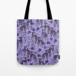Purple greyhounds Tote Bag