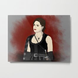 Warrior Regina Mills - Once Upon A Time Metal Print