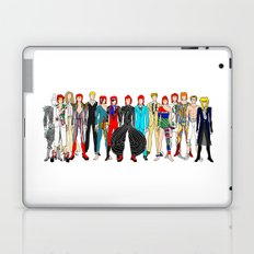 Outfits of Bowie Fashion on White Laptop & iPad Skin