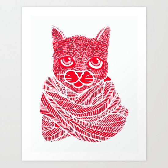 It's a Cat-Wrap Art Print