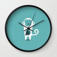 monkey Wall Clocks featuring MONKEY by Seokhyun Shim