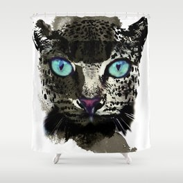 BLACK TIGER Shower Curtain