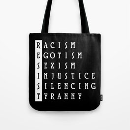 Resist : a political protest Tote Bag