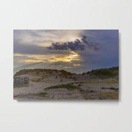 Beach Sunset in Cape Charles Metal Print