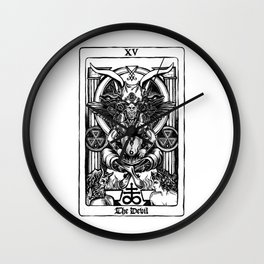 The Devil Tarot Wall Clock