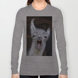 Young Lama with a big mouth | Junges Lama mit grosser Klappe Long Sleeve T-shirt