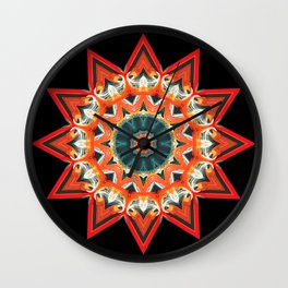Southwest Kaleidoscope  Wall Clock