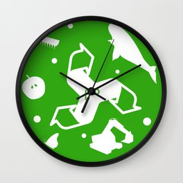 Polyrhythm by ekuseru Wall Clock