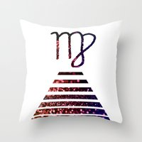 virgo Throw Pillows featuring Virgo by haroulita