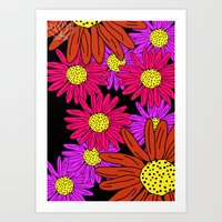 pushing daisies Art Prints featuring Pushing Daisies by Lotus&Moon