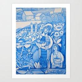 Blue window #7 Art Print