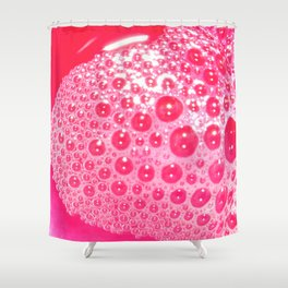 Red Bubbles Shower Curtain