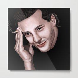 Mickey Rourke portrait Metal Print