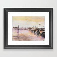 Bordeaux sunset Framed Art Print