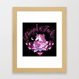 Magical As Fuck Framed Art Print
