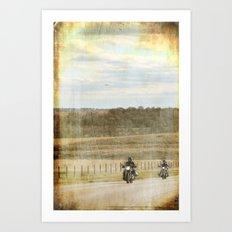 Get your motor running... Art Print