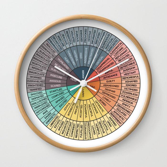 Wheel Of Emotions Wall Clock