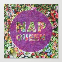 Nap Queen in Purple Canvas Print