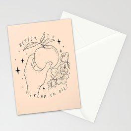 Speak Or Die ? Stationery Cards