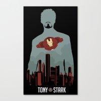 tony stark Canvas Prints featuring Tony Stark by offbeatzombie