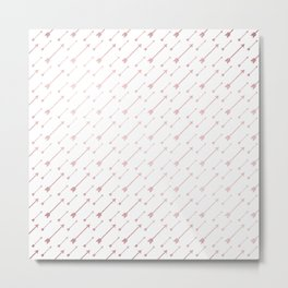 Simply Arrows in Rose Gold Sunset Metal Print